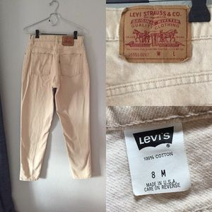 Vintage Levi's 551 Mom jeans sand color